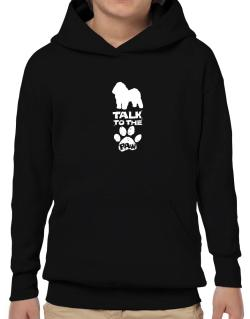 Talk To The Paw Bolognese Hoodie-Boys