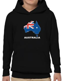 Australia - Country Map Color Hoodie-Boys