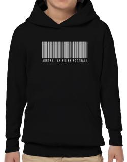 Australian Rules Football Barcode / Bar Code Hoodie-Boys