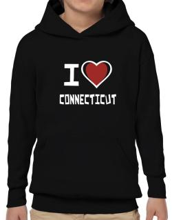 I Love Connecticut Hoodie-Boys