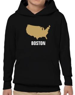 Boston - Usa Map Hoodie-Boys