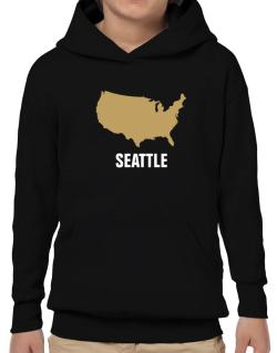 Seattle - Usa Map Hoodie-Boys