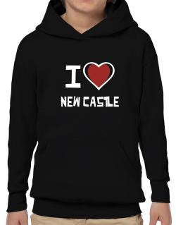 I Love New Castle Hoodie-Boys
