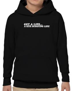 Get A Life , A Kite Buggying Life Hoodie-Boys