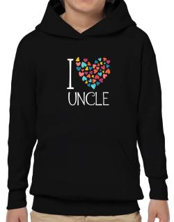 I love Auncle colorful hearts Hoodie-Boys