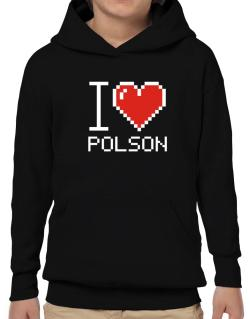 I love Polson pixelated Hoodie-Boys