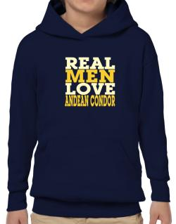 Real Men Love Andean Condor Hoodie-Boys