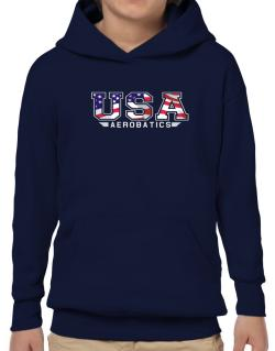 Usa Aerobatics / Flag Clip - Army Hoodie-Boys