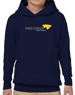 """"""" Three-Cushion - Only for the brave """" Hoodie-Boys"""
