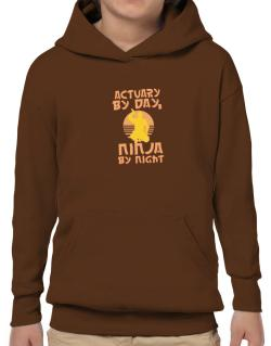Actuary By Day, Ninja By Night Hoodie-Boys
