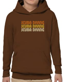 Scuba Diving Retro Color Hoodie-Boys