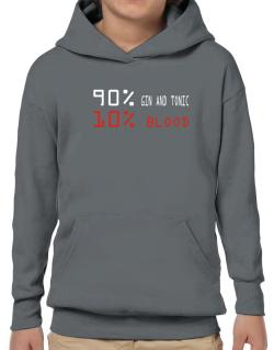90% Gin And Tonic 10% Blood Hoodie-Boys