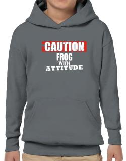 Caution - Frog With Attitude Hoodie-Boys