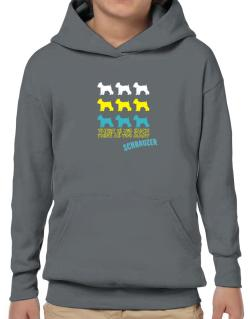 """ THERE IS NO SUCH THING AS TOO MANY Schnauzer "" Hoodie-Boys"