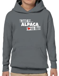 At Least My Alpaca Loves Me ! Hoodie-Boys