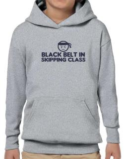 Black Belt In Skipping Class Hoodie-Boys