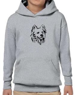 American Eskimo Dog Face Special Graphic Hoodie-Boys