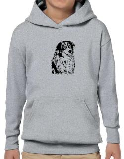 Australian Shepherd Face Special Graphic Hoodie-Boys