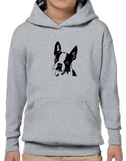 Boston Terrier Face Special Graphic Hoodie-Boys