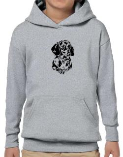 Dachshund Face Special Graphic Hoodie-Boys
