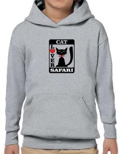 Cat Lover - Safari Hoodie-Boys