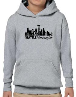 Seattle, Washington skyline Hoodie-Boys