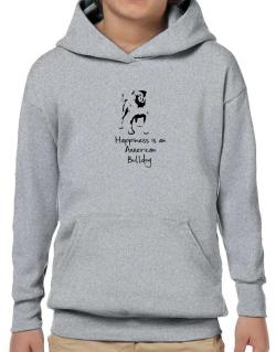Happiness is a American Bulldog Hoodie-Boys