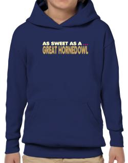As Sweet As A Great Horned Owl Hoodie-Boys