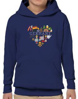 I love Germany Hoodie-Boys
