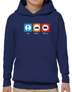 Eat sleep Manx Hoodie-Boys
