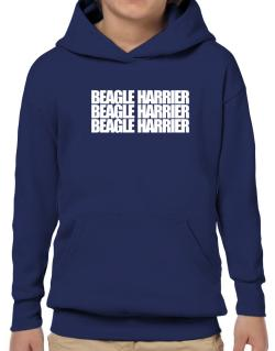 Beagle Harrier three words Hoodie-Boys