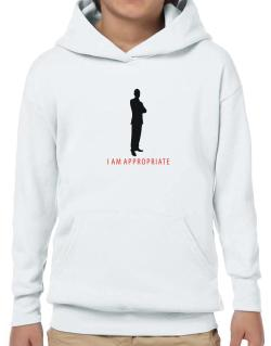 I Am Appropriate - Male Hoodie-Boys