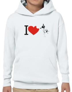 I love Australian Cattle Dogs Hoodie-Boys