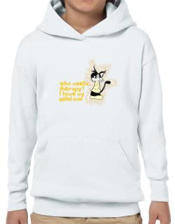 Who Needs Therapy? I Have My Applehead Siamese Hoodie-Boys