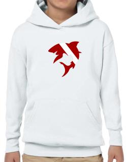 Diver down Shark Scuba Diving Hoodie-Boys