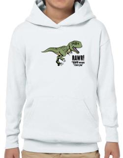Rawr means I Love You in dinosaur Hoodie-Boys