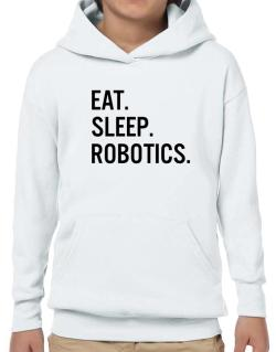 Poleras Con Capucha de Eat sleep robotics