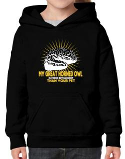 My Great Horned Owl Is More Intelligent Than Your Pet Hoodie-Girls