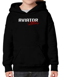 Aviator With Attitude Hoodie-Girls