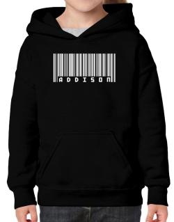 Bar Code Addison Hoodie-Girls