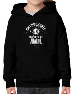 Untouchable Property Of Abarne - Skull Hoodie-Girls