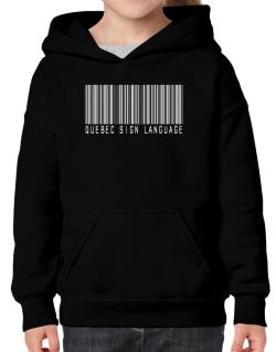 Quebec Sign Language Barcode Hoodie-Girls