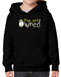 """  YOU GOT OWNED Pickleball  "" Hoodie-Girls"