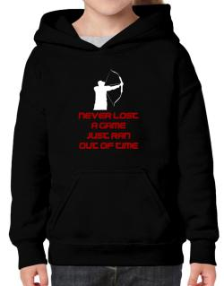 Archery Never Lost A Game Just Ran Out Of Time Hoodie-Girls
