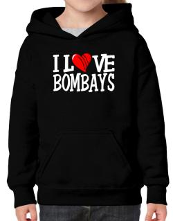 I Love Bombays - Scratched Heart Hoodie-Girls