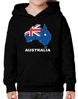Australia - Country Map Color Hoodie-Girls