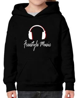 Freestyle Music - Headphones Hoodie-Girls
