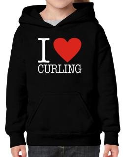 I Love Curling Classic Hoodie-Girls