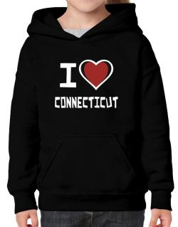 I Love Connecticut Hoodie-Girls