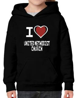 I Love United Methodist Church Hoodie-Girls